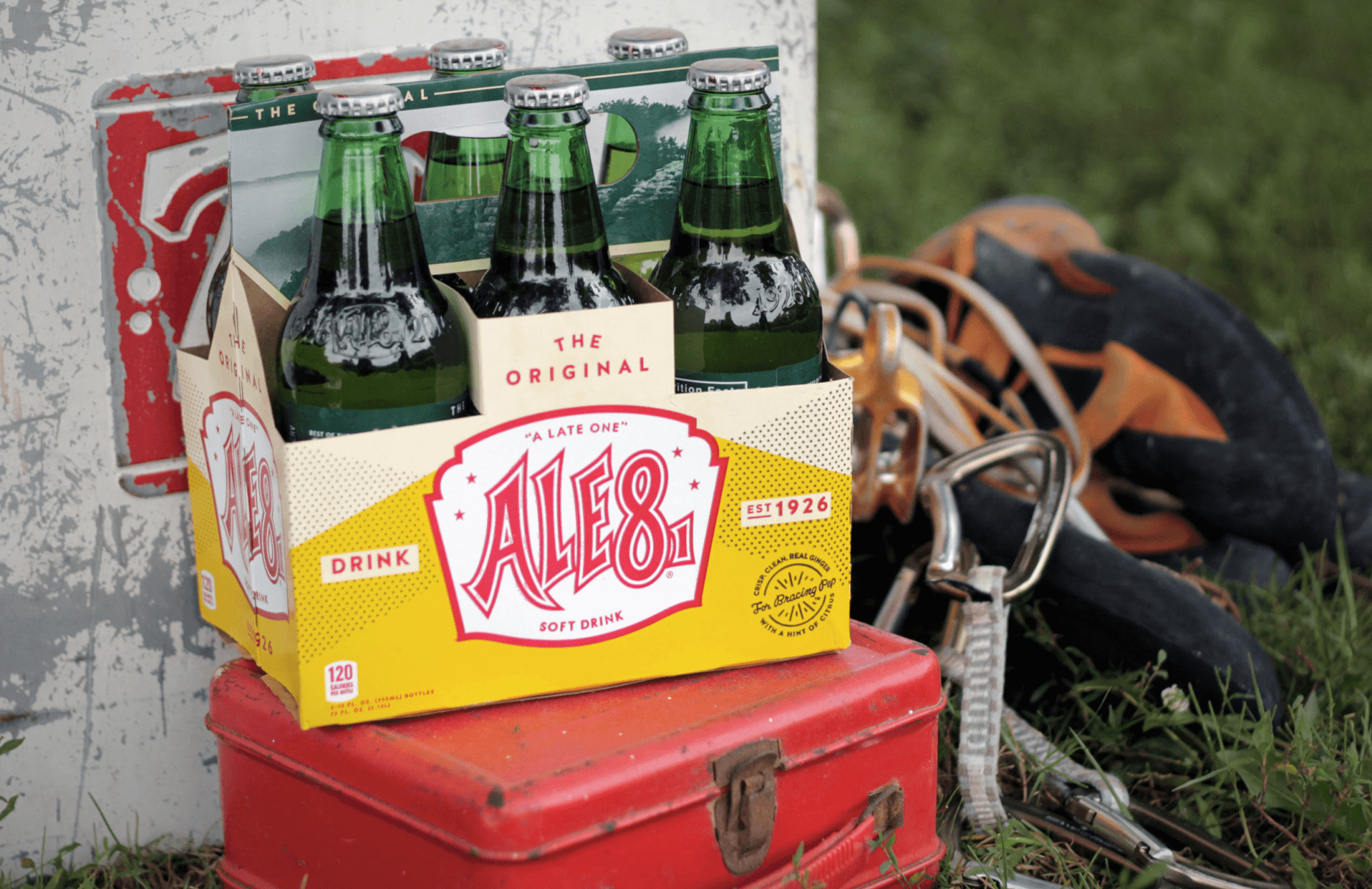 Ale-8 glass bottle package camping